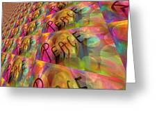 Signs Of Peace X Greeting Card