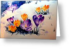 Signs Of Spring Greeting Card