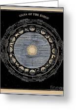 Signs Of The Zodiac Circa 1855 Greeting Card
