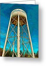 Sikeston Water Tower Iv Greeting Card