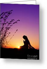 Silence Of Prayer Greeting Card by Tim Gainey
