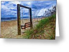 Silence Of The Waves Greeting Card by Cary Shapiro