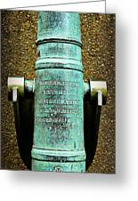Silenced -- Surrendered British Cannon Greeting Card