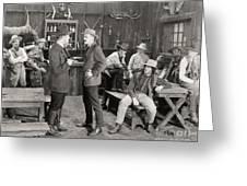 Silent Film Still: Cowboys Greeting Card