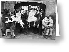 Silent Film Still: Parties Greeting Card
