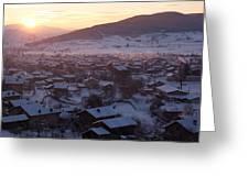 Silent Winter Sunset  Greeting Card