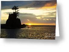 Siletz Bay Sunset Oregon 1 Greeting Card
