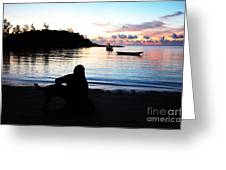 Silhouette At Sunrise Greeting Card