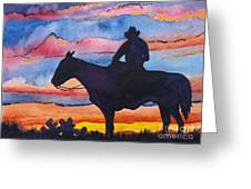 Silhouette Cowboy Greeting Card