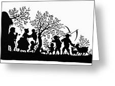Silhouette Family Life Greeting Card