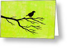 Silhouette Green Greeting Card