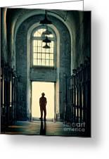 Silhouette In Doorway Greeting Card