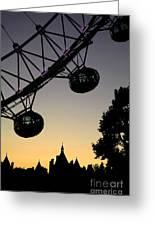 Silhouette Of London Eye Greeting Card
