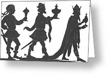 Silhouette Of Three Kings Greeting Card