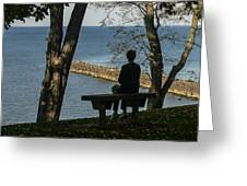 Silhouette On The Hill Greeting Card