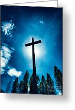 Silhouetted Cross Greeting Card