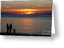 Silhouetted In Sunset At Sturgeon Point Marina Greeting Card