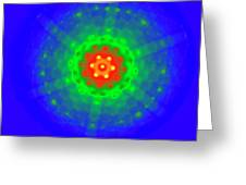 Silicon Crystal Diffraction Pattern Greeting Card