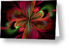 Silk Butterfly Abstract Greeting Card