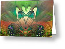 Silk Fan - Abstract  Greeting Card