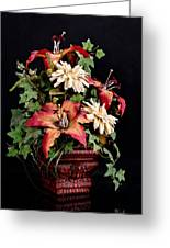 Silk Flowers Greeting Card by Jeff Burton