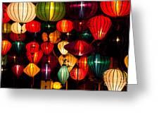 Silk Lanterns In Vietnam Greeting Card