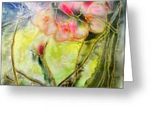 Silky Almond Flower Greeting Card