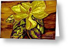 Silky Magnolia Greeting Card by Marsha Heiken