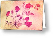 Silky Red Roses Greeting Card