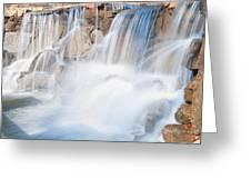 Silky Waterfall Splash Greeting Card