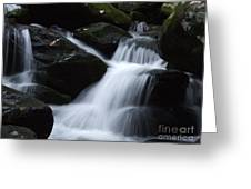 Silky Waterfall Greeting Card