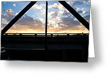 Sillhouette Iron And Concreted Bridges At Sunset In Pai Thailand Greeting Card