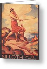 Silloth On The Solway, Advertisement Greeting Card