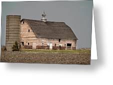 Silo And Barn Greeting Card