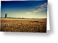 Silo In Wheat Greeting Card