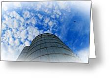 Silo Meets The Sky Greeting Card