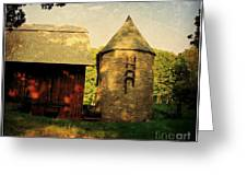 Silo Red Barn Greeting Card
