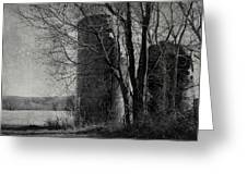 Silos - Black And White Greeting Card