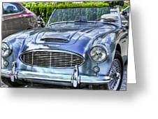 Silver 1963 Austin Healey Roadster 3000 Greeting Card
