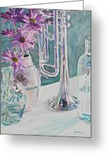 Silver And Glass Music Greeting Card