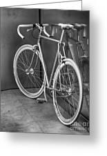 Silver Bike Bw Greeting Card
