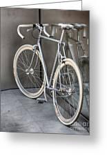 Silver Bike Greeting Card