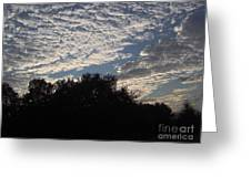 Silver Clouds Greeting Card