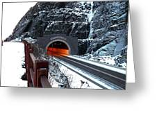 Silver Creek Tunnel Greeting Card