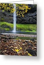 Silver Falls In Fall Greeting Card