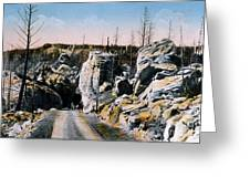 Silver Gate Road Yellowstone Np Greeting Card