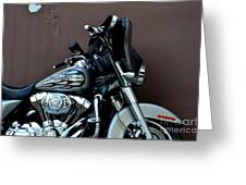 Silver Harley Motorcycle Greeting Card