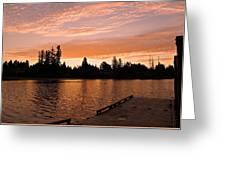 Silver Lake Sunset Greeting Card