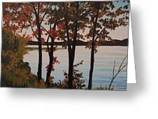 Silver Lake Through Autumn Trees Greeting Card