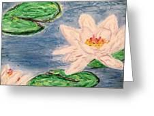Silver Lillies Greeting Card by Daniel Dubinsky